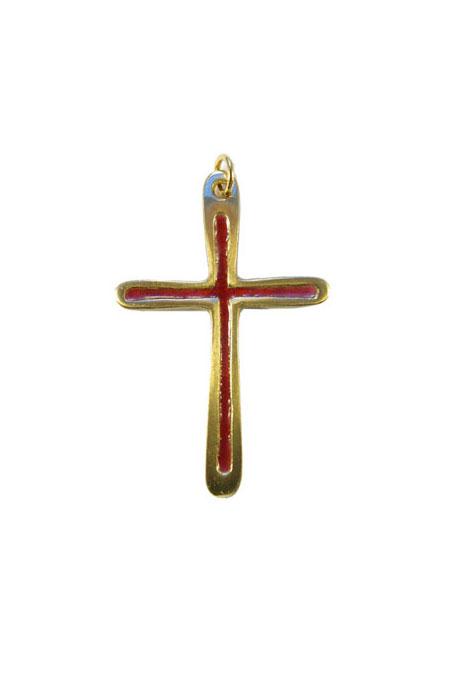 0211-Croix-pendentif-cadeau-communion-emaux-rouge-7cm