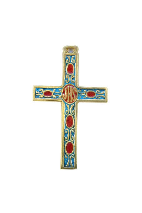 034-Croix-murale-aube-emaux-blanc-bleu-inscription-biblique-9-2cm