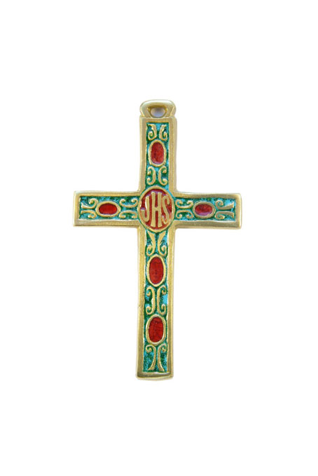 034-Croix-murale-aube-emaux-blanc-vert-inscription-biblique-9-2cm