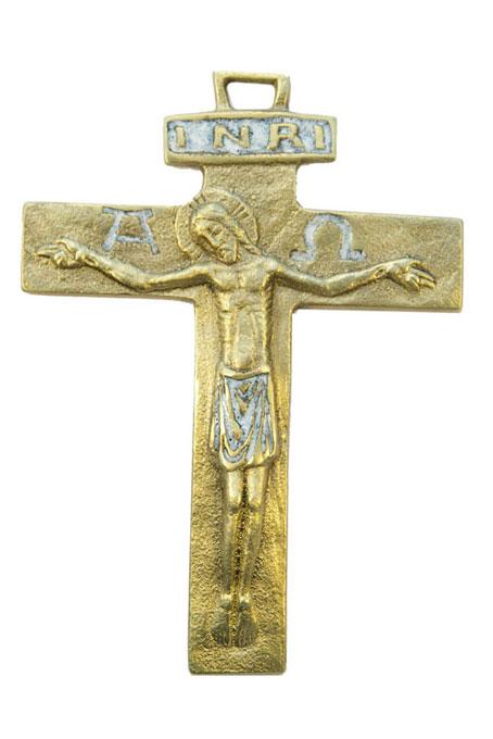 430-Crucifix-emaux-blanc-13cm