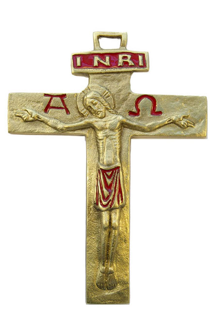 430-Crucifix-emaux-rouge-13cm