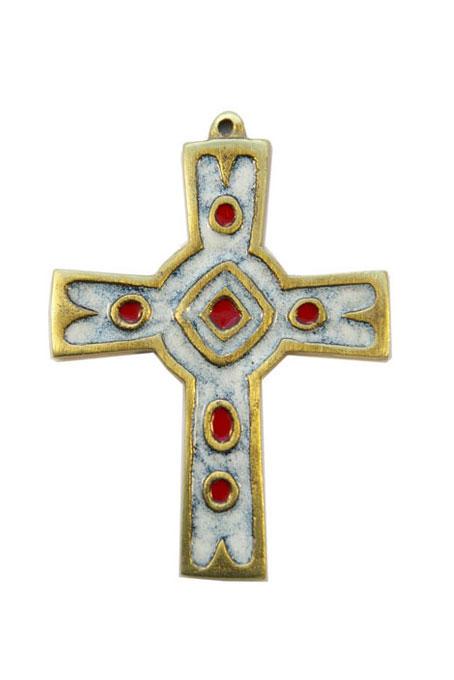 892-Croix-murale-emaux-grand-feu-blanc-10cm