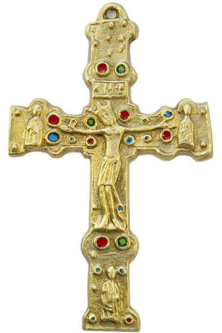 931-Christ-roman-bronze-emaux-15cm