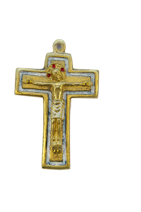 954-210-Christ-roman-bronze-emaux-blanc-9cm