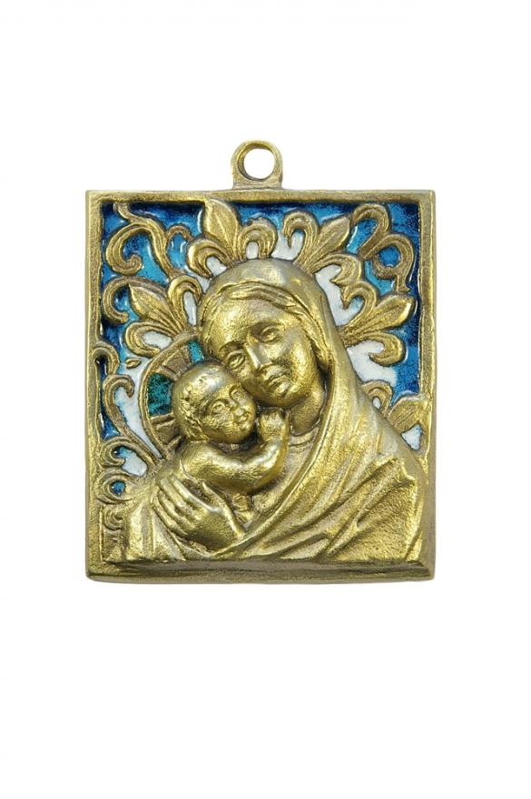 Vierge à l'Enfant avec fleurs de lys