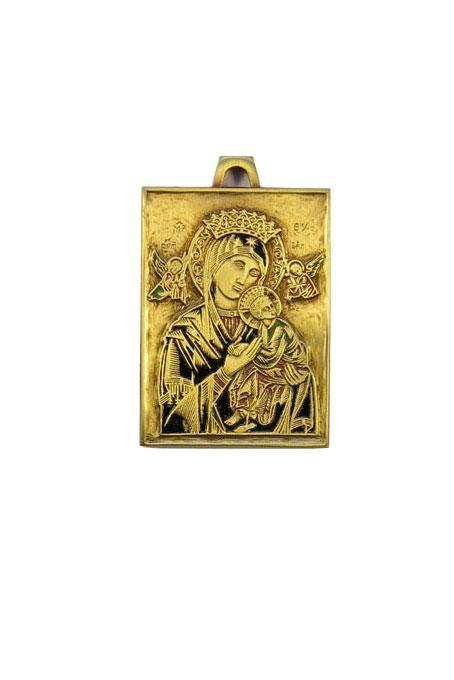 Médaille de berceau : icône de Notre Dame du Perpétuel Secours
