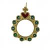 Dizainier Sacré-Coeur - bijou religieux en bronze et émaux grand feu