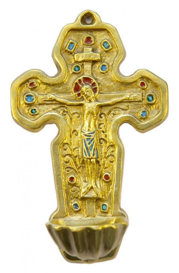 0129-Benitier-bronze-emaux-17-5cm