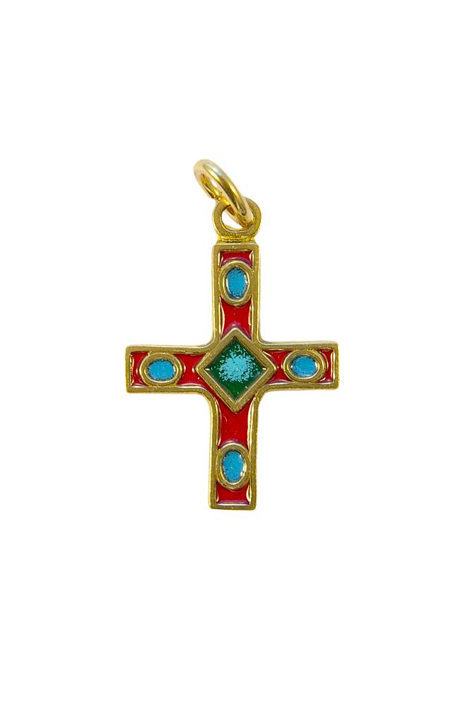 Croix pendentif bronze