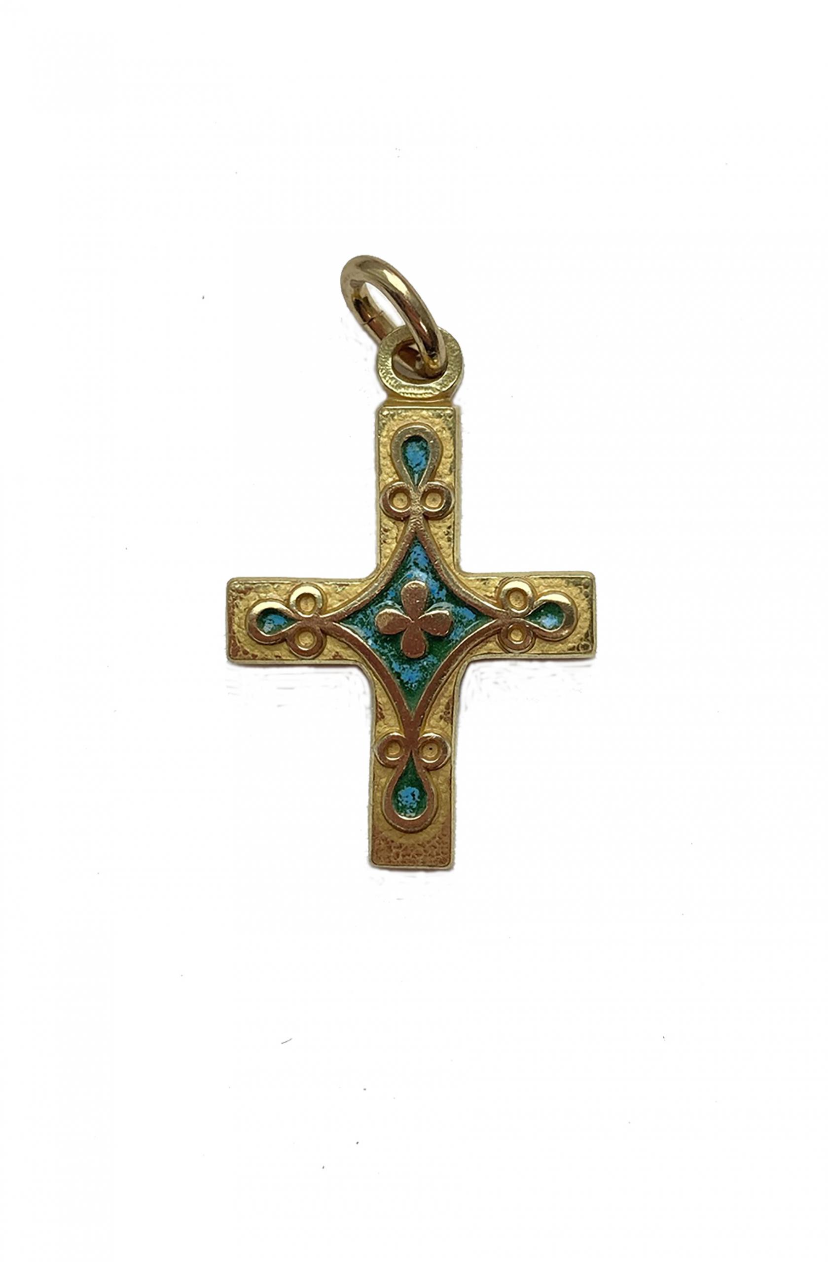croix pendentif bronze 0162