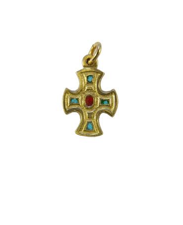 0175-pendentif-croix-bronze-email-vert-2-4cm