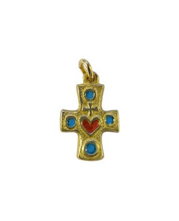 0176-Croix-bijou-Sacre-Coeur-bleu-2-5cm