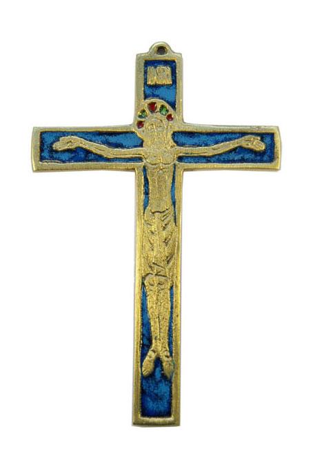 020-Crucifix-emaux-bleu-12-5cm