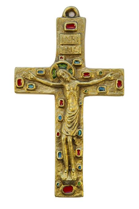 046-Crucifix-bronze-Emaux-14-5cm