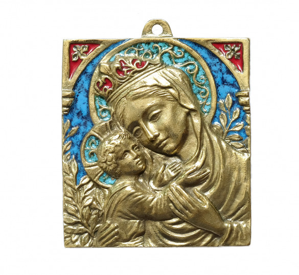 Vierge bronze icone