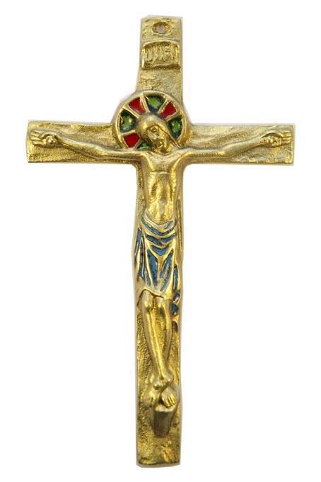092-Crucifix-bleu-14-5cm