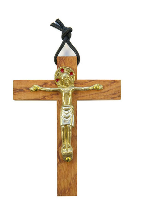 210-Crucifix-bronze-emaux-rouge-10cm
