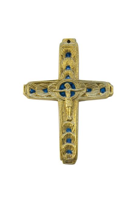 240-Crucifix-emaux-bleu-1ere-communion-9,5cm