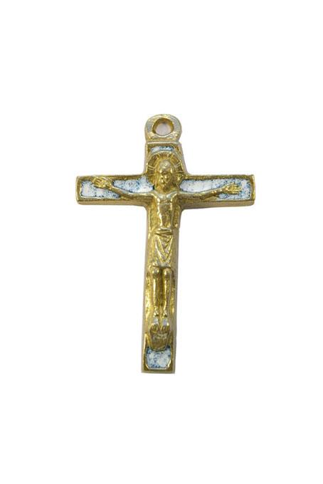 290-Christ-bronze-emaux-blanc-7-5cm