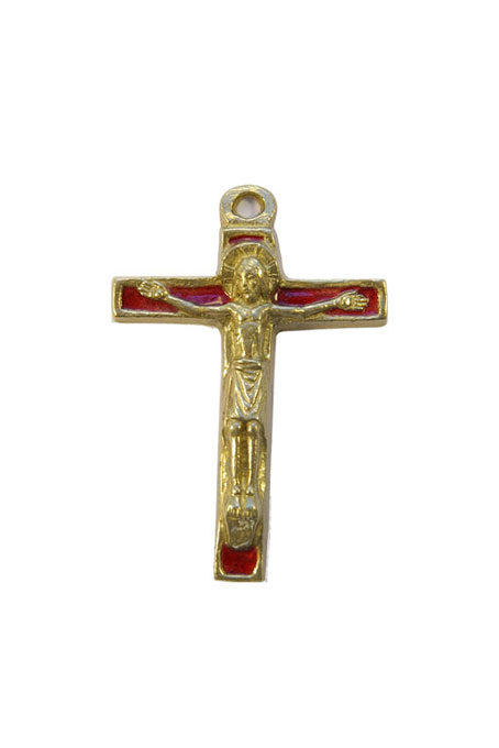 290-Christ-bronze-emaux-rouge-7-5cm