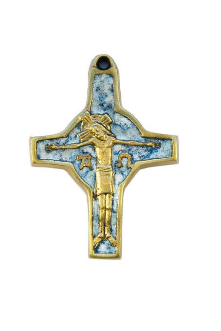 310-Crucifix-symboles-emaux-blanc-bleu-cadeau-religieux-9cm