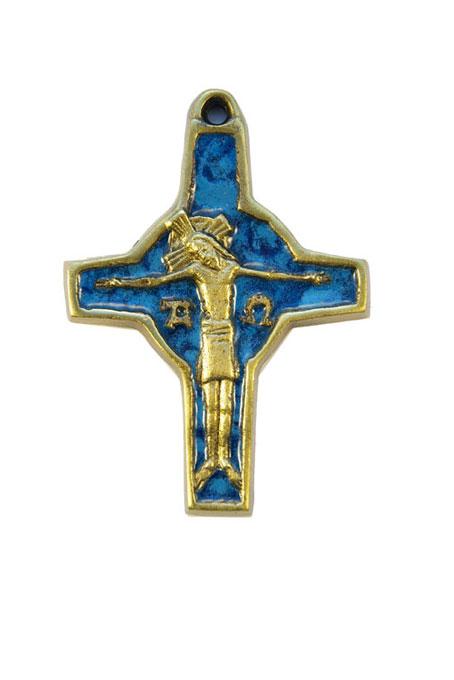 310-Crucifix-symboles-emaux-bleu-cadeau-religieux-9cm