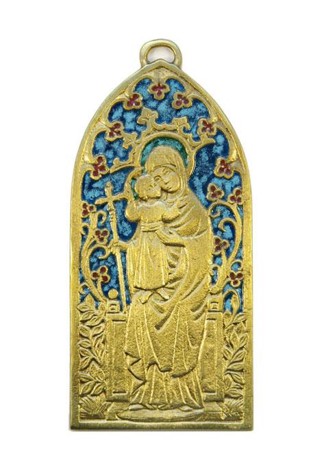 62-Plaque-ogive-Vierge-Enfant-13-5cm