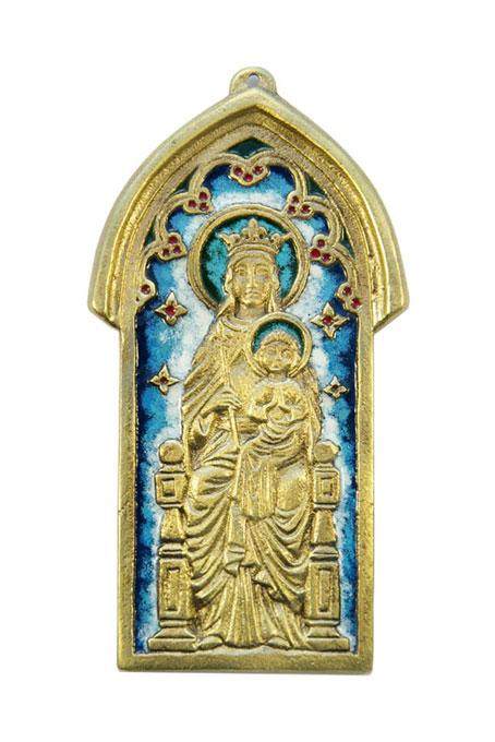 63-cadre-ogive-Vierge-enfant-13-5cm