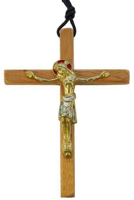 800-Crucifix-mural-bronze-emaux-blanc-croix-bois-12-5cm