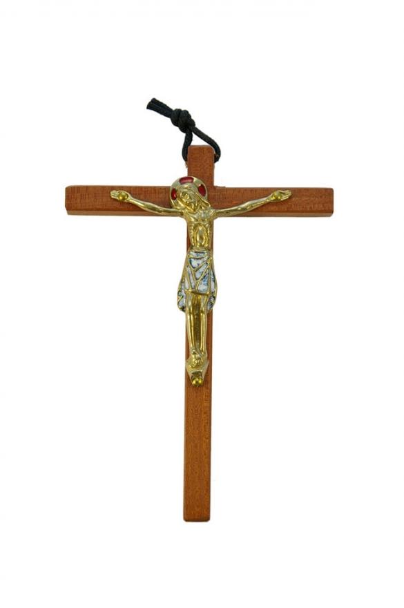 810-Christ-emaille-blanc-cadeau-pretre-14-5cm