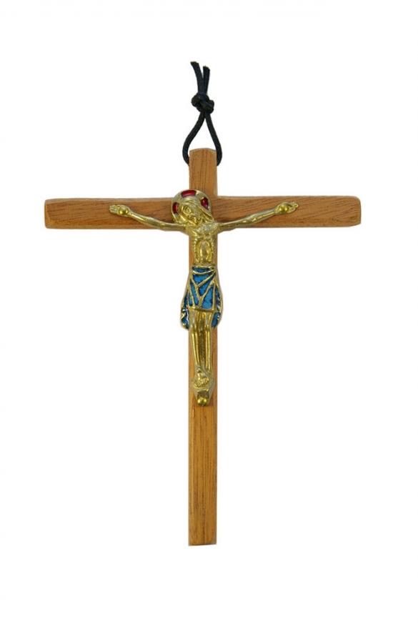 810-Christ-emaille-bleu-cadeau-pretre-14-5cm