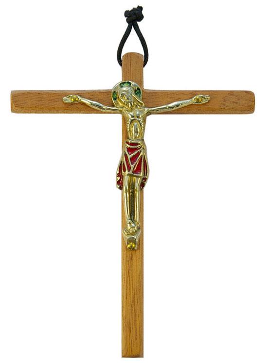 810-Christ-emaille-rouge-cadeau-pretre-14-5cm