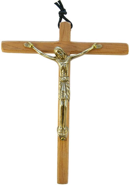 90-Christ-bronze-emaille-croix-bois-15cm