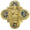 """Christ en majesté dit """"Salvator mundi"""" Sauveur du monde - bronze et émaux grand feu"""