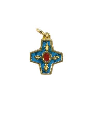 N73-Croix-pendentif-enfant-emaille-bleu-2cm