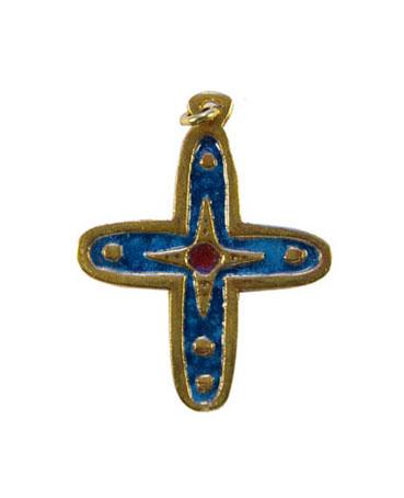 012-bijou-Petite-croix-email-bleu-4-7-cm