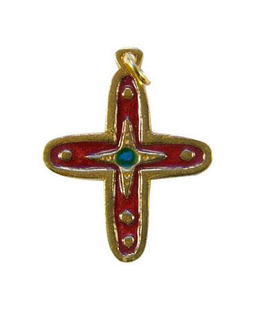 012-bijou-Petite-croix-email-rouge-4-7-cm