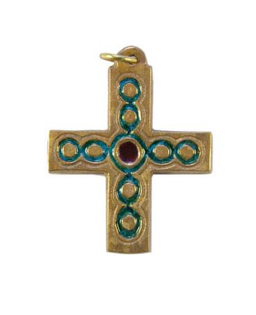 013-Petite-croix-bijou-email-vert-5cm
