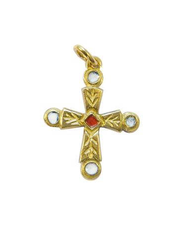 0192-Croix-pommelee-cabochons-blancs-pendentif