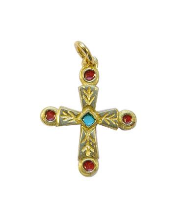 0192-Croix-pommelee-cabochons-rouges-pendentif