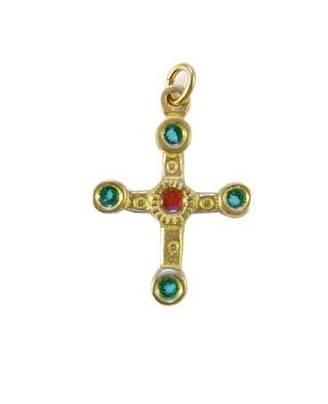 0193-cadeaux-religieux-croix-email-vert-3-4cm