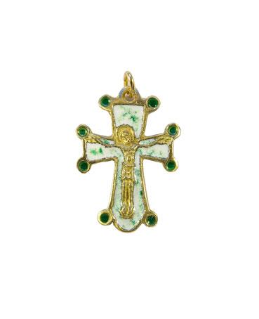 0197-pendentif-bijou-croix-Christ-cadeau-bapteme-blanc-vert-3-2-cm