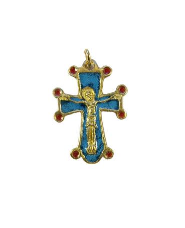 0197-pendentif-bijou-croix-Christ-cadeau-bapteme-bleu-3-2-cm