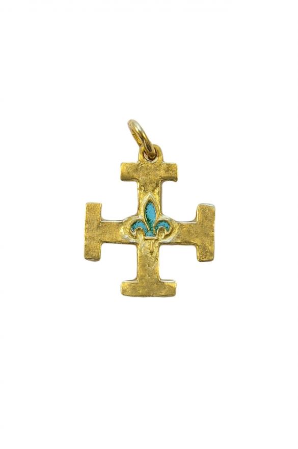 0213-Pendentif-Croix-Scout-de-France-lys-vert-2-5cm