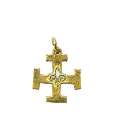 0213-Pendentif-Croix-Scout-pendentif-lys-blanc-2-5cm