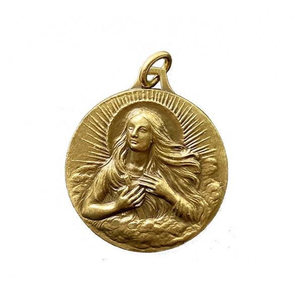 Vierge médaille Marie-Madeleine