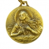 Médaille de sainte Marie-Madeleine en bronze ciselé.