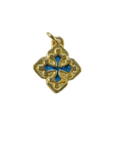 087-Croix-occitanee-pendentif-email-bleue-2-5cm