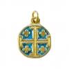 Croix de Jérusalem en médaillon, bijou pendentif religieux