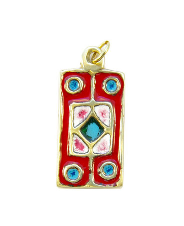 580-Pendentif-emaille-rouge-5cm